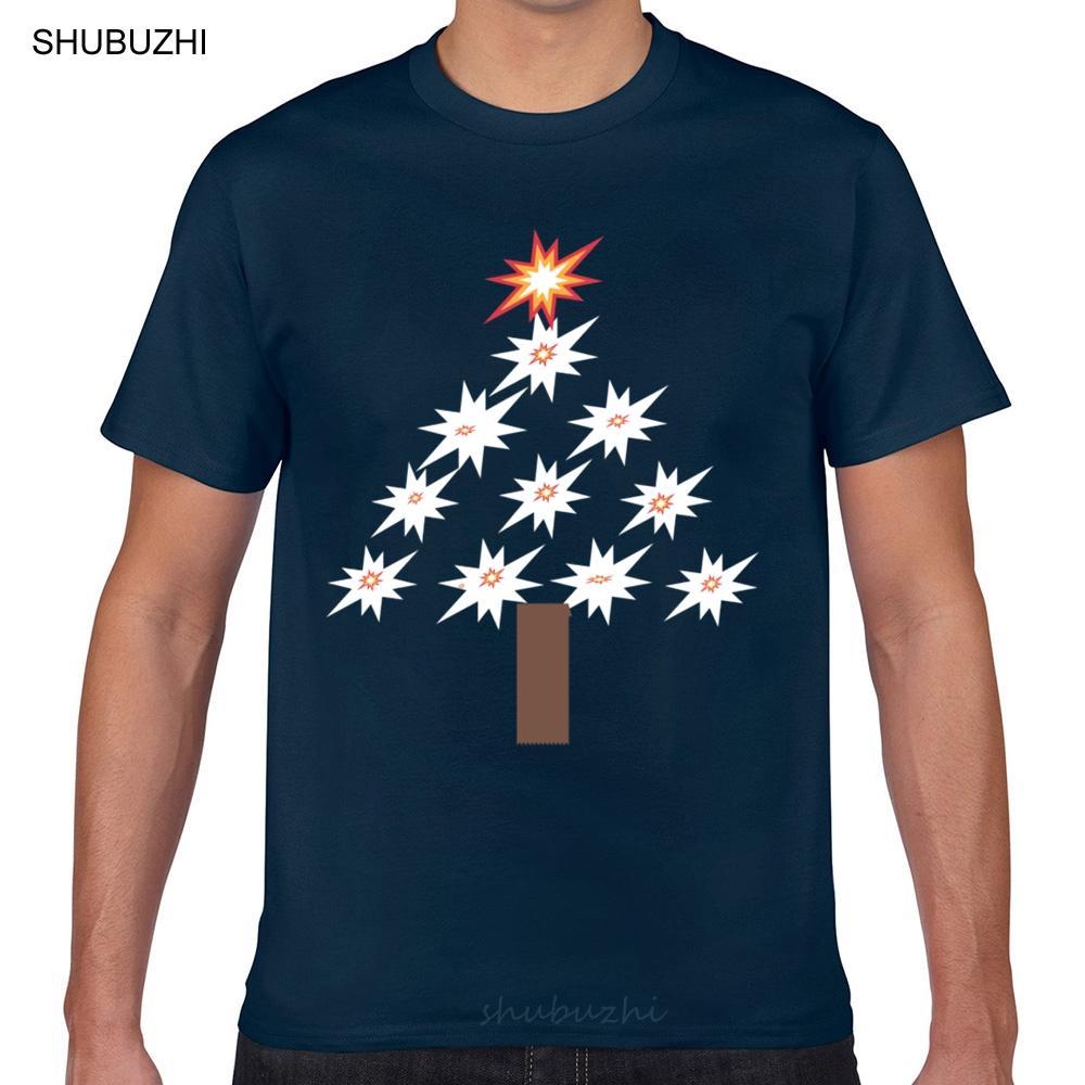 T Gömlek erkekler Noel ağacı Şükran Weekend Streetwear Komik Harajuku Geek Pamuk Erkek Tişörtü Tops