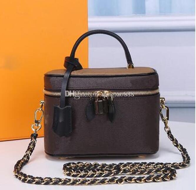 Vanity Spalla Crossbody Real Leather Borse Borsa Borsa Bella vanità BOWHIDE BB BB Tela Borsa da donna Fonat