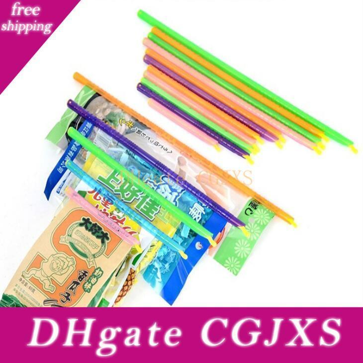 Magic Seal Bag Sealer Sticks Keeps Food Fresh Plastic Bag Sealer Clips Storage Food 8pcs /Set Lx1779