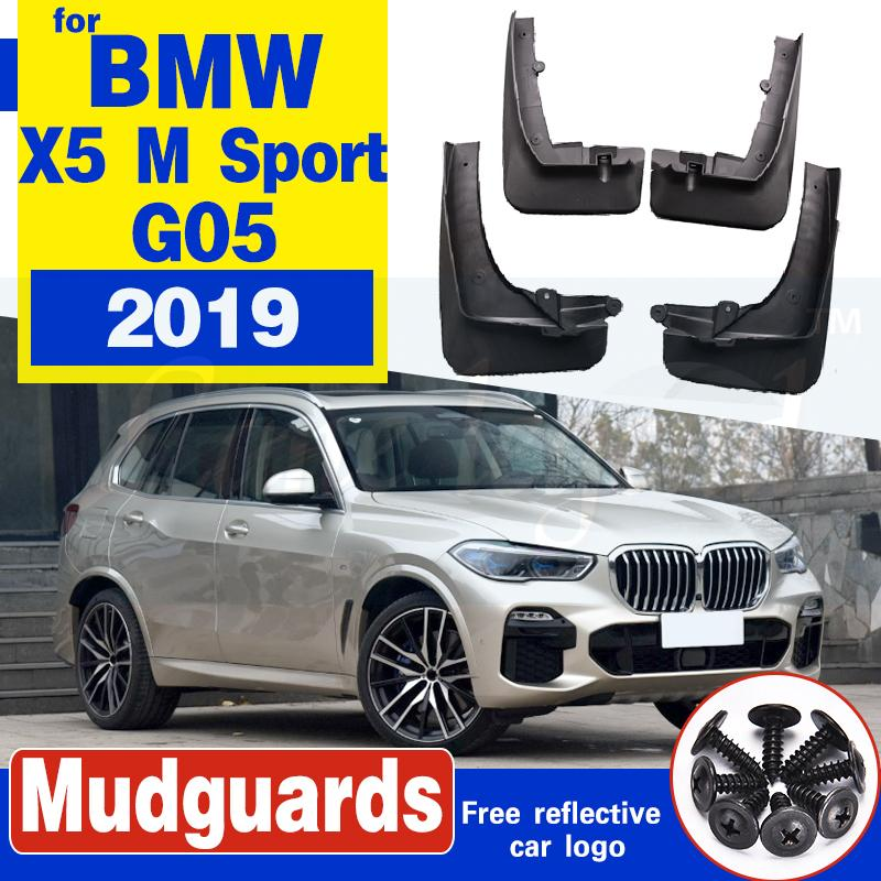 Auto Vorderrad Hinterrad Spritzschutz Schmutzfänger Kotflügel Kotflügel Schlamm-Klappen für BMW X5 M Sport 2019 G05 Weicher Kunststoff-Zubehör