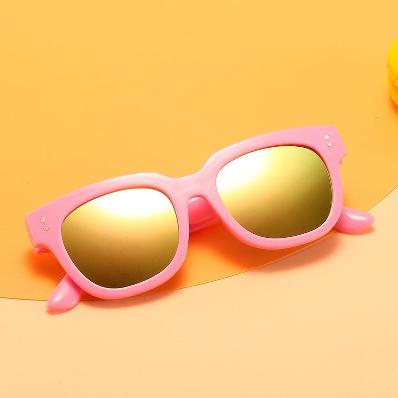2020 New Girl Children Gradient Fashion Vintage Colorful Ellipse Kid Sun Goggle Boy Sunglasses Glasses UV400 Round Unisex Mirror Mrnhm