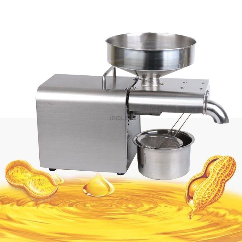 Tasa de Aceite Frío automática máquina de la prensa de alta Extractor Extractor de cacahuete coco Aceite de Oliva máquina de la prensa