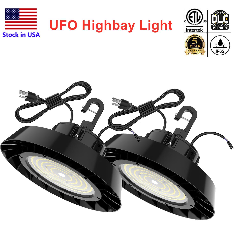 DLC LED UFO Highbay Shop Lights ETL 5000K LED عالية الخليج ضوء 240 واط 200 واط 150 واط داخلي ضوء مصنع محطة مصنع الإضاءة
