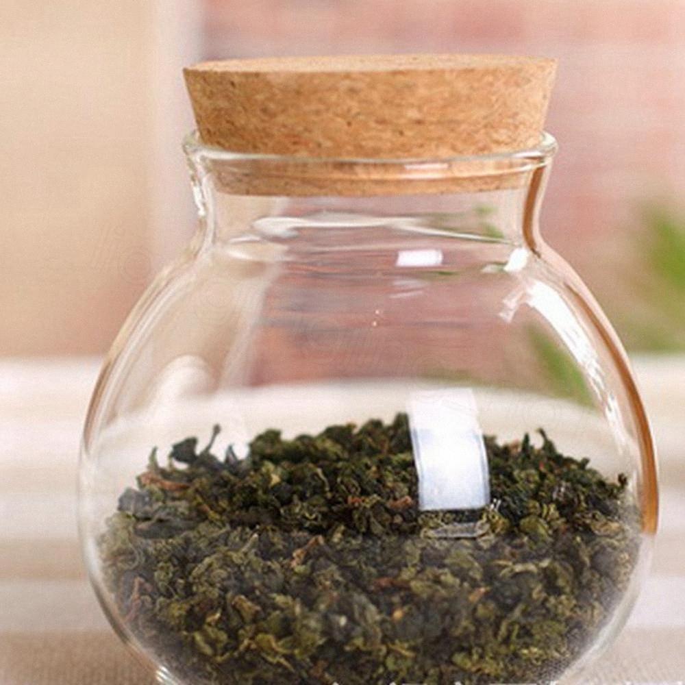Vetro per tè e caffè Zucchero Vetro Fusti pianta del fiore Vaso Pot Casa Decor Partito Bellezza disegno sveglio contenitore alimentare vaso trasparente 10CM F iC4T #