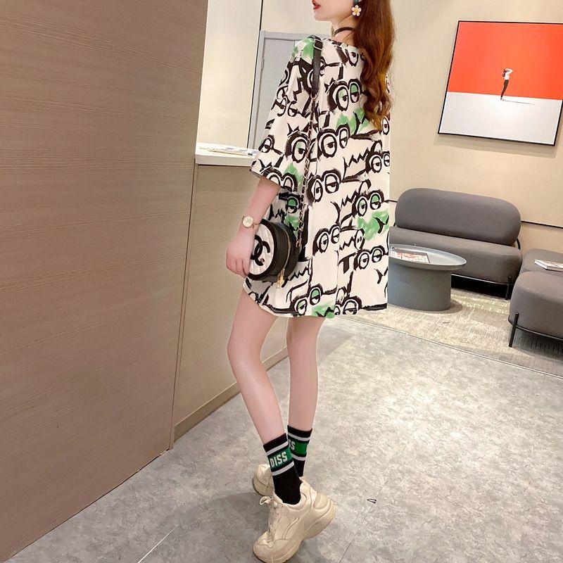 aWpzc JVPKo Kadın 2020 tarzı yeni Koreli tişört gevşek ins moda severler aynı Summer zayıflama kısa kollu tişört üst