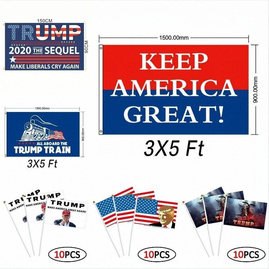 Дональд Трамп 2020 Флаг 90 * 150см 15 Стили Байден Bernie Trump Tank Американский Президентские выборы Trump Ручные Флаги Морские перевозки DDA221 TdbR #