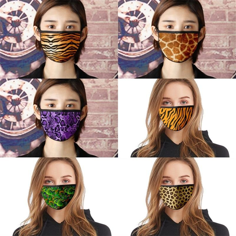 Réutilisable Masque lavable Mascarilla anti-poussière respirateurs coupe-vent Serpentine Leopard Imprimer Outdoor Summer Protect Fashion Bonne 2 6fde E2