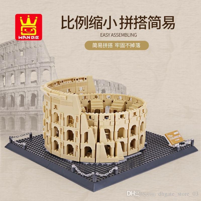 Roman Colosseum Architektur riesigen Block Ziegel Assemblage Modell Vintage-Bildung Kinder Spielzeug Geschenk unisex Display Gebäude alte