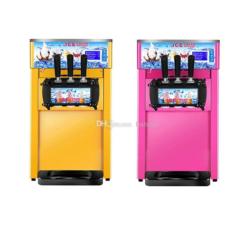Escritorio tres cabezas de hielo ahorro de energía máquina de crema de la venta caliente mini tienda de café máquina para hacer helados