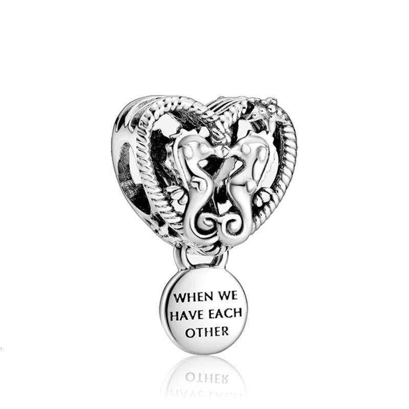 Полые Seahorse кулона из бисера ювелирных изделий адаптирующих Пандора прелести браслет ожерелье поделки браслетов аксессуаров для женщин дара