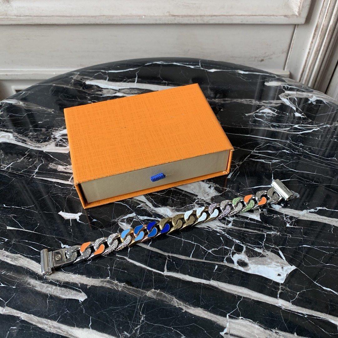 Bracelet en acier titane 361 avec diamants bracelet unisexe brillant bracelet de la chaîne de personnalité de haute qualité Bracelet de mode bijoux de mode