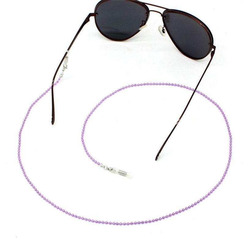 Multicolor Bola Beads Fazer a ligação com contas cadeia Óculos Correntes óculos de leitura óculos de sol Strap Cord Titular Neck Headband Acessórios
