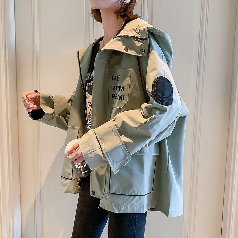 NEUE beiläufige Arbeitskleidung Kurzmantel Frauen Frühling Herbst neue breite Slouchy Jacke bequem und vielseitig Kurzmantel LJ200813