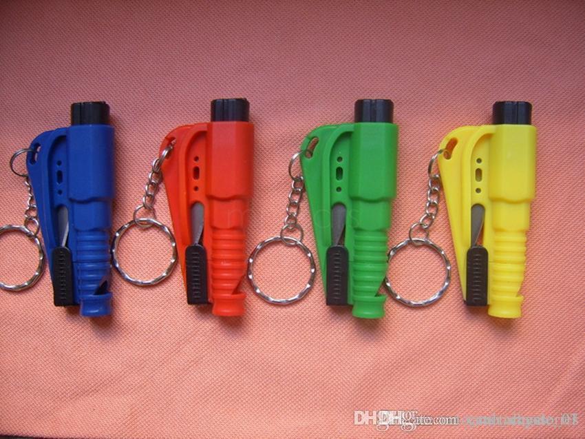 3 in 1 Notfall Mini Safety Hammer Autofenster Glasbrecher Sitze Gürtelschneider Rettungshammer Auto Lebensparende Escape Tool VVA50