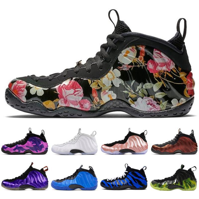 Sale Hot AirFoamposite uno Penny Hardaway Jumpman dei pattini di pallacanestro degli uomini schiuma bianca viola mens formatori dimensioni Sport Sneakers 7-12