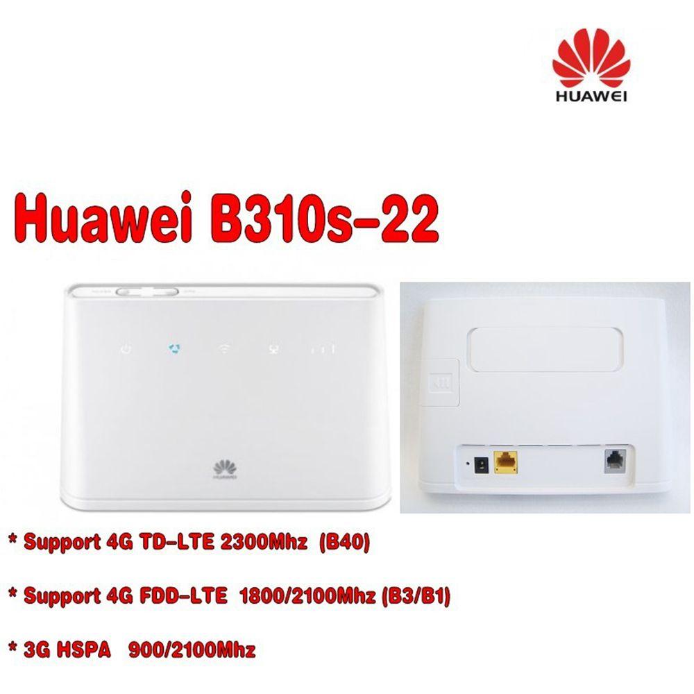 Déverrouillés Huawei B310 B310s-22 avec antenne 150Mbps 4G LTE CPE WIFI ROUTEUR modem avec Sim Slot pour carte jusqu'à 32 appareils