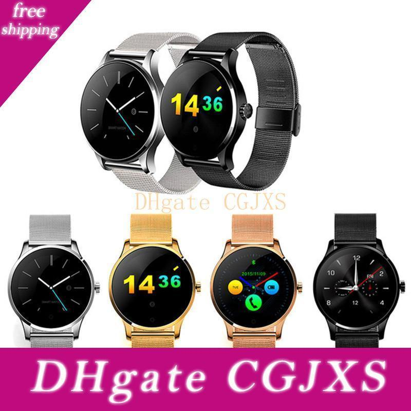 K88h Bluetooth Smart Watch Classic Health Metal Smartwatch Heart Rate Monitor For Android Ios Phone Remote Camera Clock