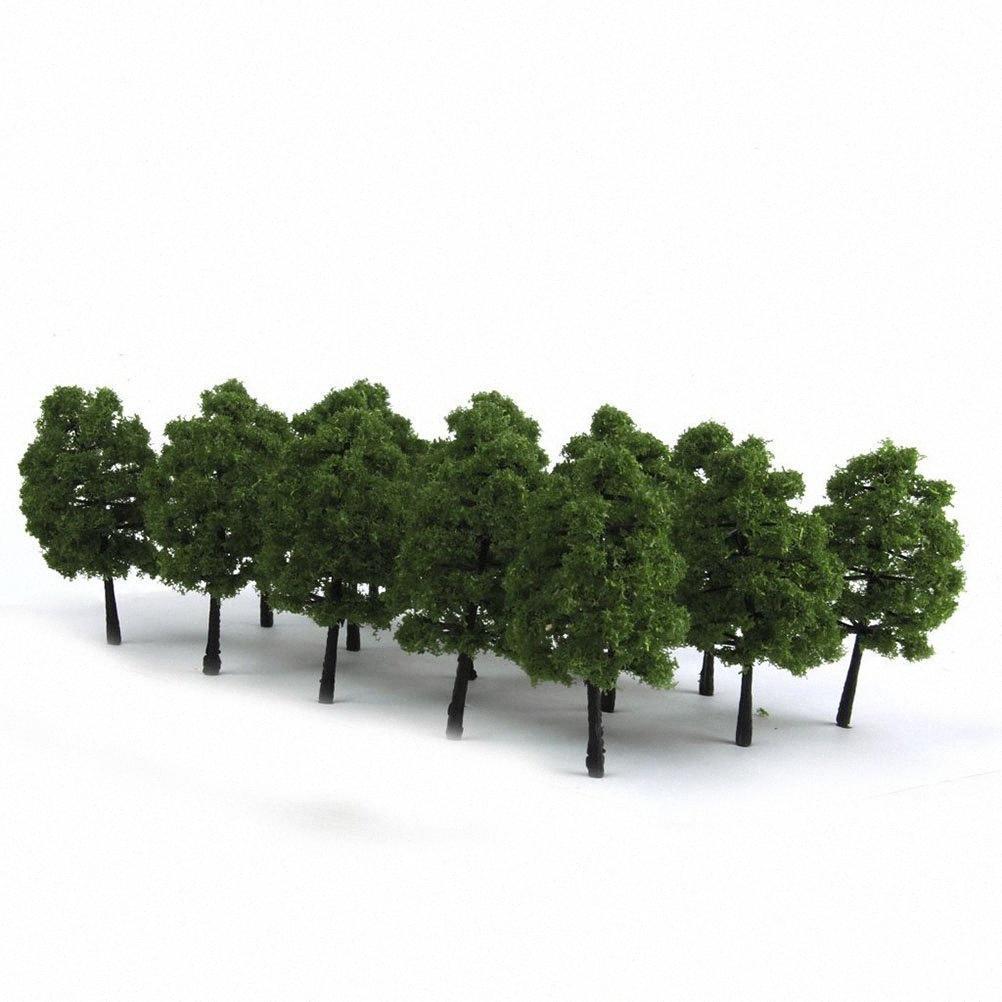 20шт 9CM пейзаж Пейзаж Дерево модели (темно-зеленый) Тупой #