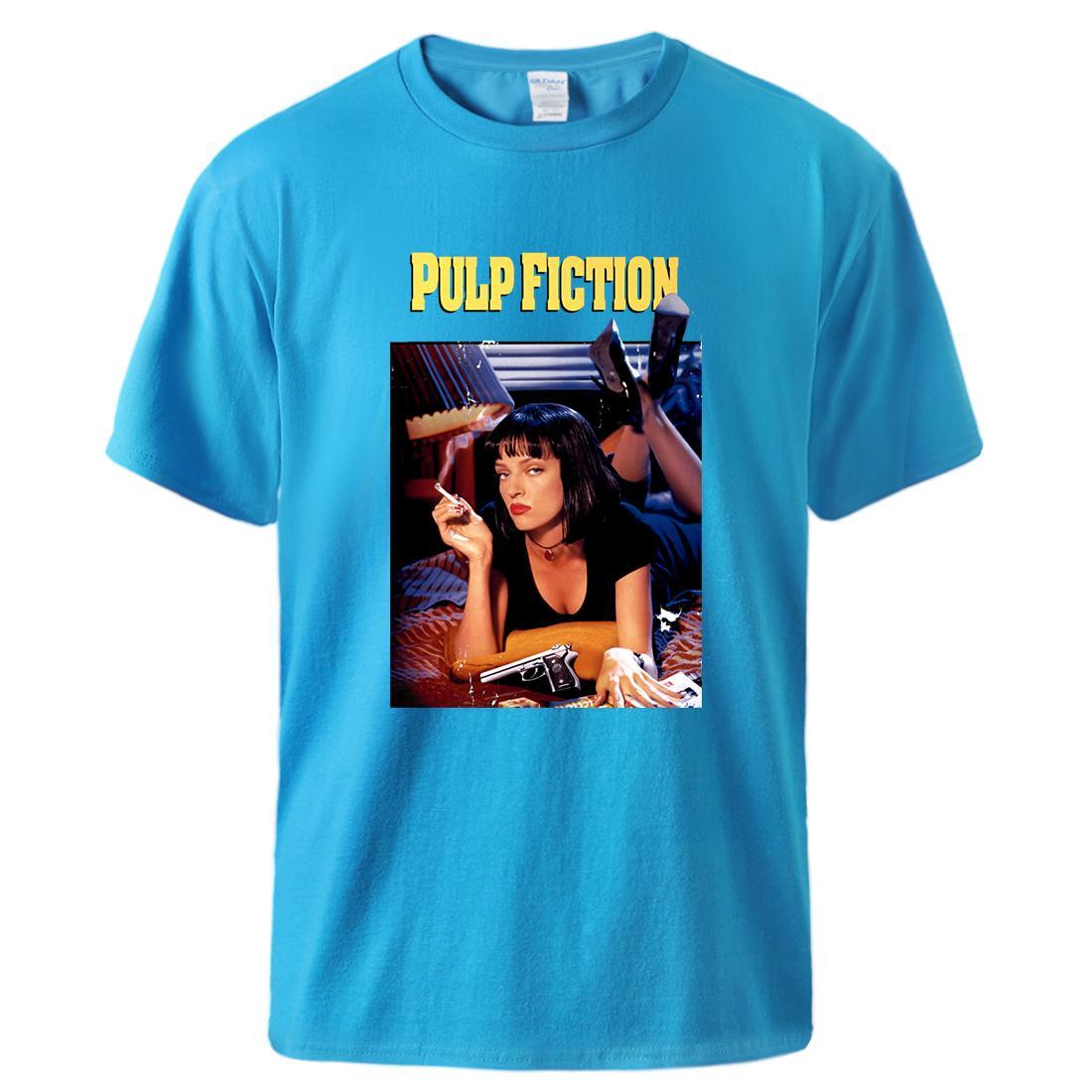 Pulp Fiction T-shirt Cool Man manches courtes en coton T 2020 Homme Causal vrac sport Vente chaude Homme Outwear Pull T-shirt noir