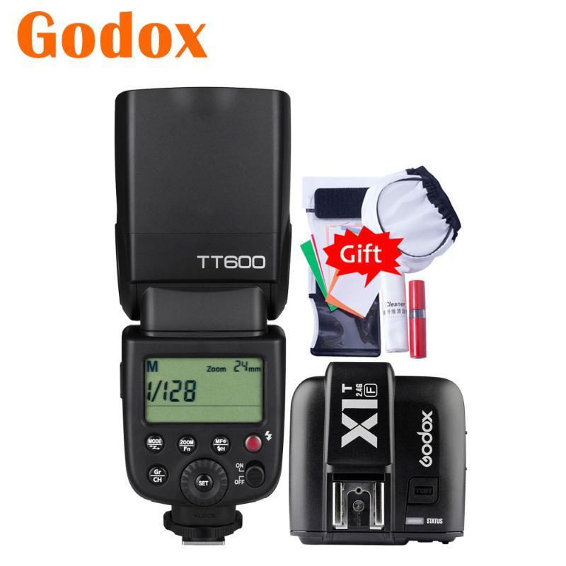 Godox600 2.4G HSS GN60 Master Slave Camera Flash Speedlite X1T-F Transmitter Trigger For X-T20 T30 T2 T3 X-E5 E3 E1