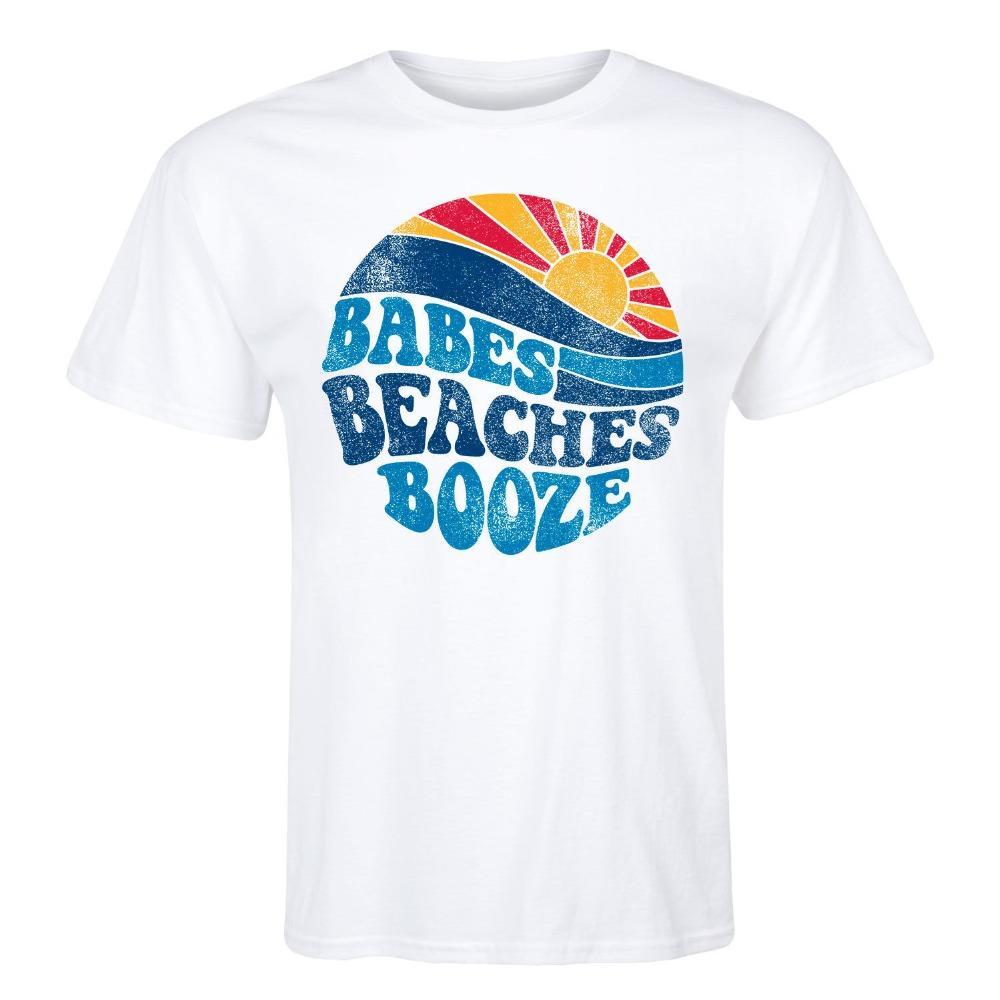 Camiseta de los hombres la buena calidad Casual Top Tees algodón de la manera del nuevo del verano envío Babes playas alcohol barato T Shirts Online