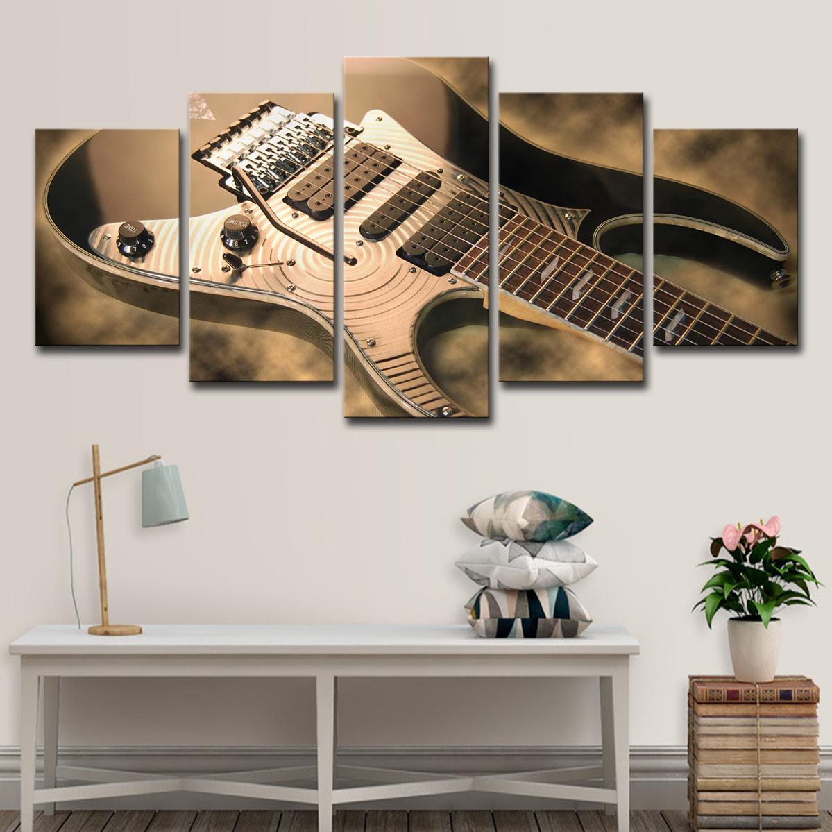 Unframed Классической Холст стена искусство Картина Электрогитара Картины для гостиной Спальни Music Room Decor