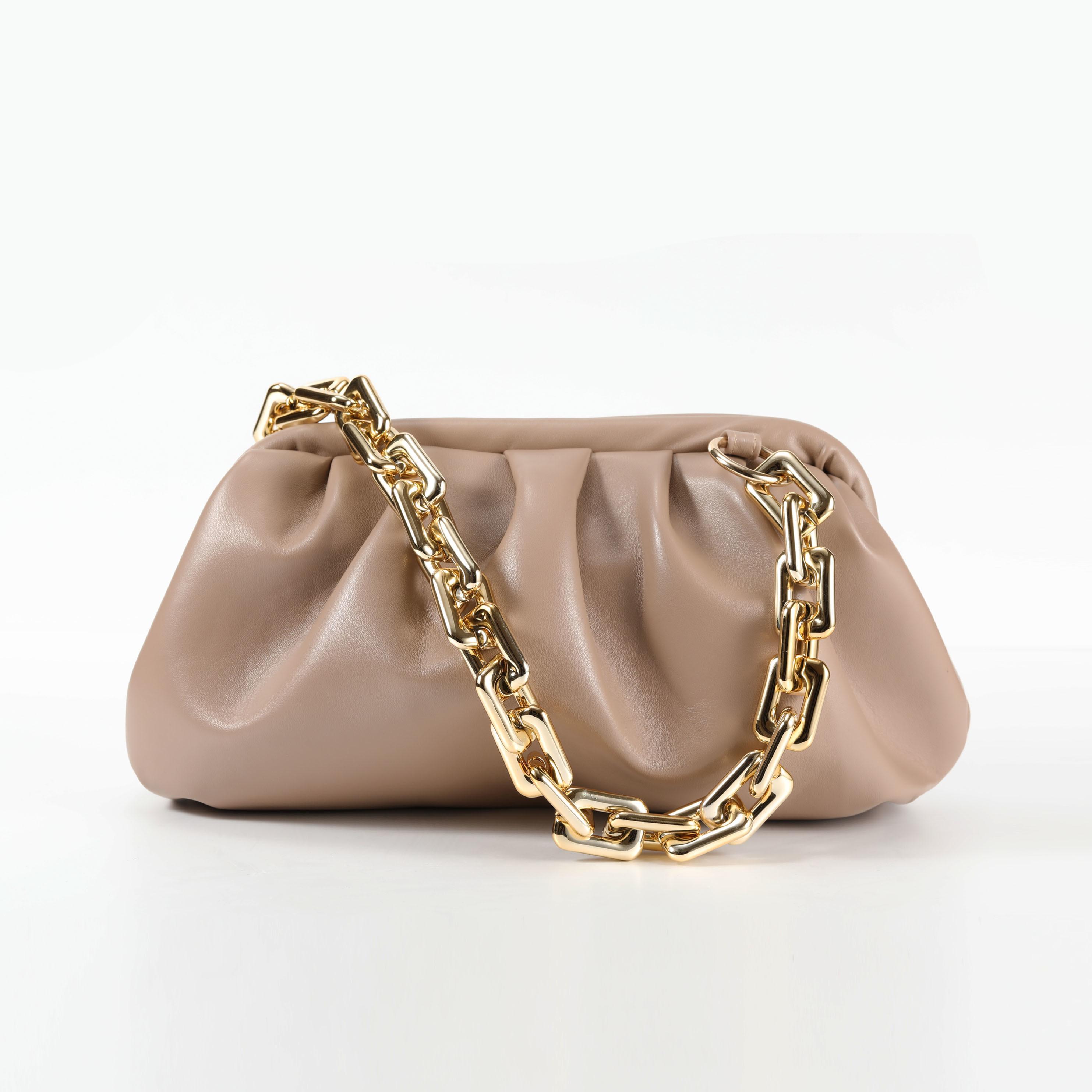 Толстые цепи Дизайн Кожа PU Crossbody Сумки для женщин Малый сумки и кошельки Женщины плеча сумку LJ200827