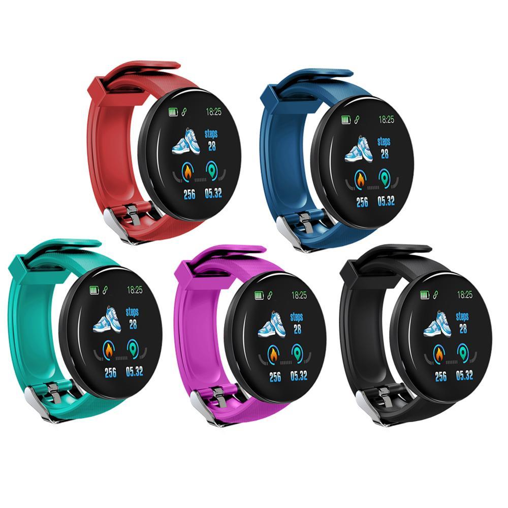 D18 color TFT elegante de la pantalla del reloj inteligente WRISTBANDS impermeable Presión de Sangre monitor de ritmo cardíaco reloj inteligente Deporte