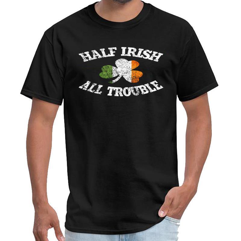 Gráfico Meio irlandês Todos os homens camisa vipkid problema t desonestos camiseta aptidão s-5XL tee topo