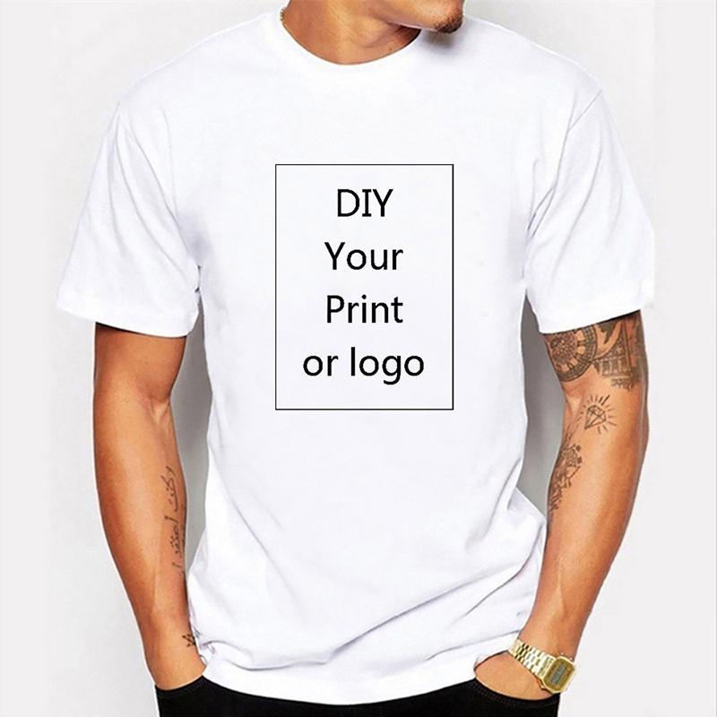 Özel Tişört Sizin KENDİ Tasarım Markası / Resim Özel Erkekler ve Kadınlar DIY Pamuk Tişört Kısa Kollu Casual dropshipping CX200819 Tops