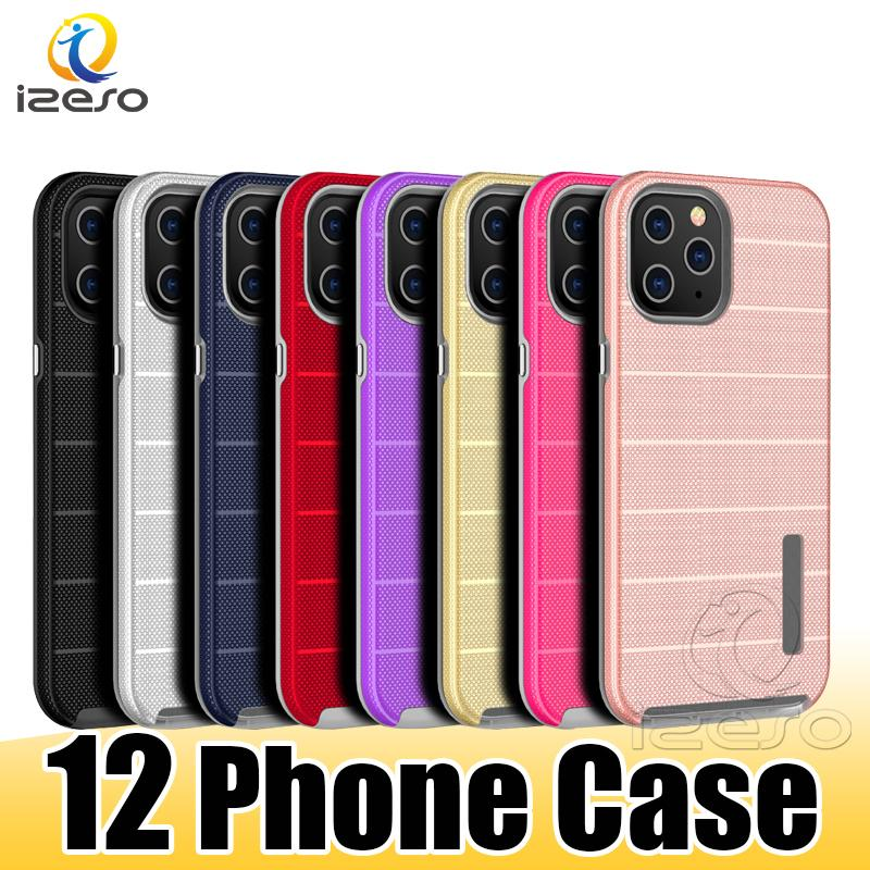 Hybrid Armor Case for iPhone 12 11 Pro Max XR XS 8 7 Plus TPU PC Phone Back Cover Shockproof Cellphone Cases izeso