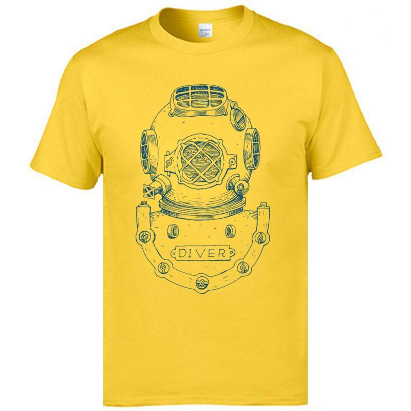 Personalizado Tops camisetas Frogman Diver Capacete impresso em camisetas Homens de Verão Popular T-shirt da aptidão Marca Roupa Teeshirt
