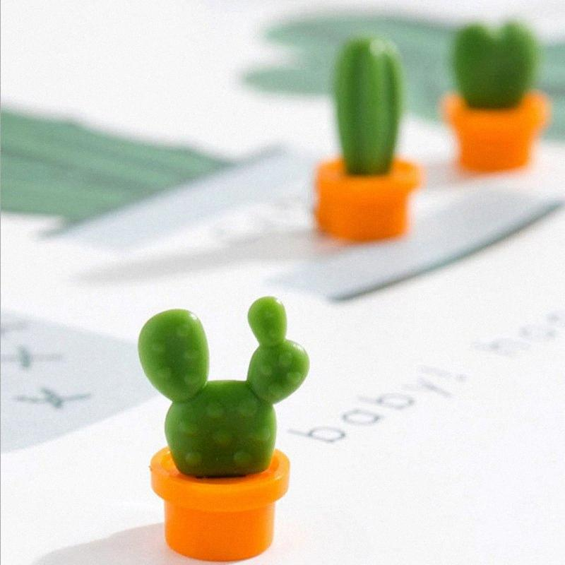 Pulsante 6pcs / set Frigo magneti Souvenir Cactus Pianta grassa magnete da frigorifero Messaggio Sticker Home Decor Fridge Magnet aNqu #