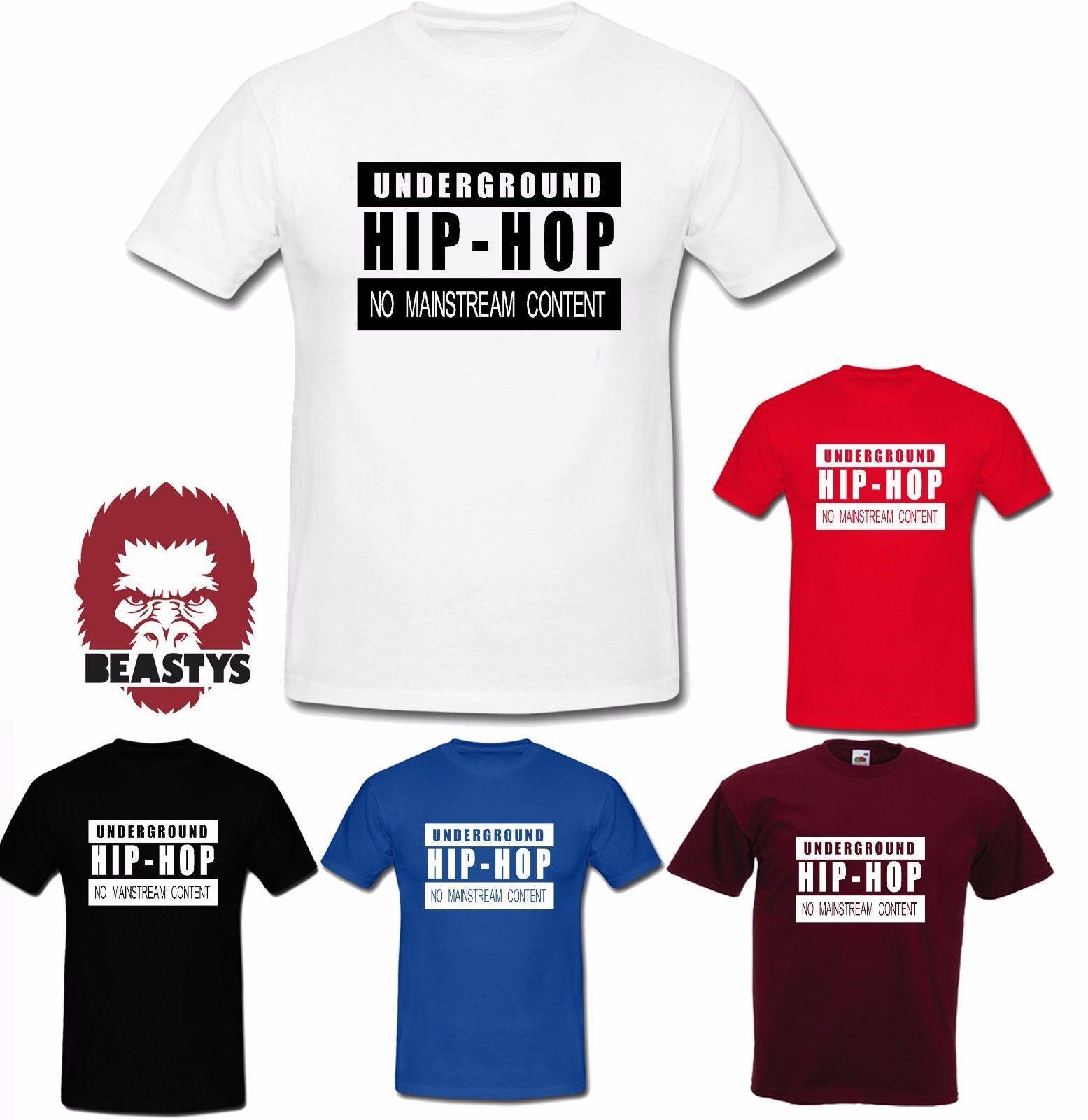 hip hop subterráneo sin ropa de la corriente principal de rap tribu búsqueda camisetas de los niños / adultos fresco de orgullo casual hombres de la camiseta unisex de la nueva manera