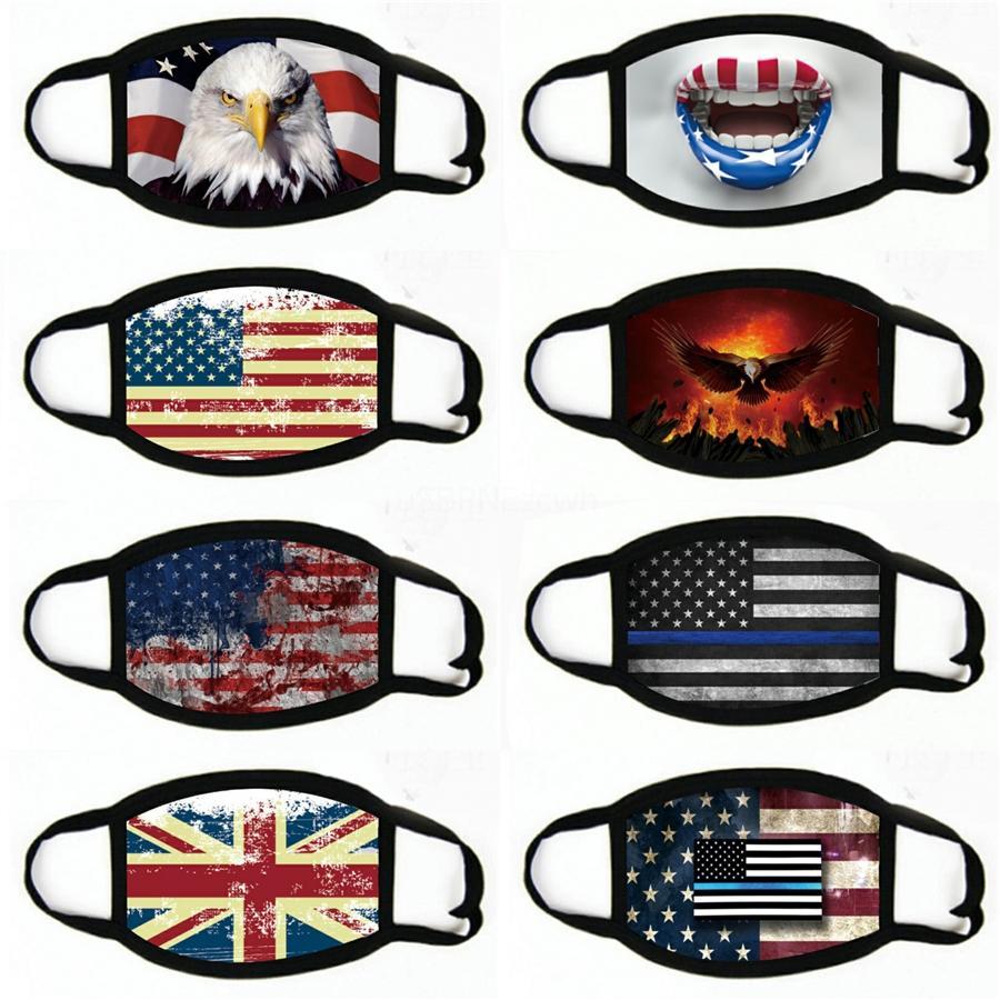 Ciclismo Máscara Outdoor anti-poeira à prova de vento de condução do curso da bandeira dos Estados Unidos Sports Adulto Máscara # 907