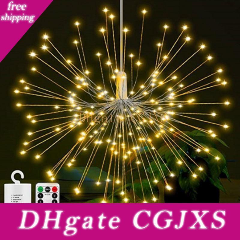 200 führte Lichterketten wasserdichtes warmes Weiß Feuerwerk Aa Batterie betrieben Kupferdraht Weihnachten Hochzeit Garland Fairy Light