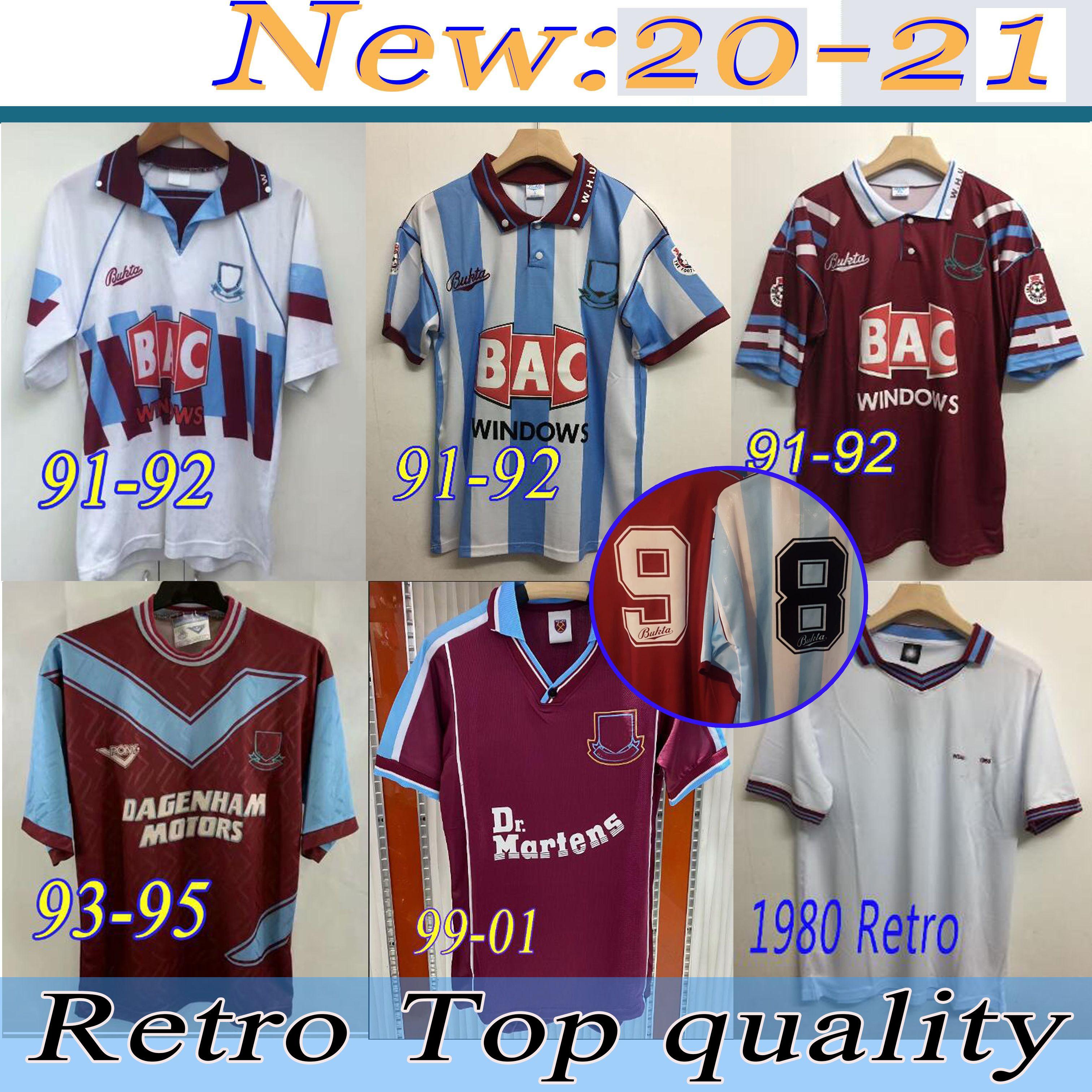 91 92 95 97 West-Centenary Retro Jahre Cole Di Canio Lampard Dicks 1999 00 Trikot camiseta 100. 99 Retro 00 Startseite Ham Retro Fußball-Trikot