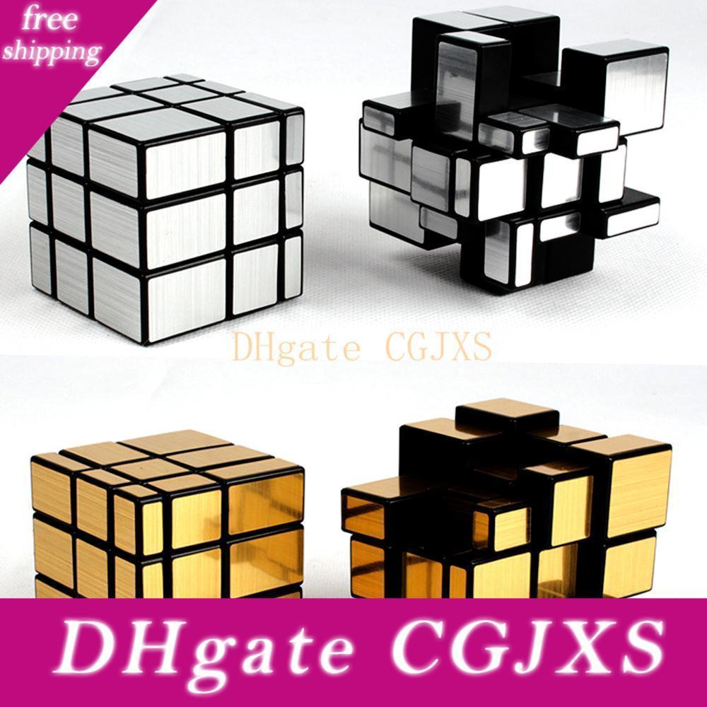 3 Layers 5 .7 Cm Mirror Cube 1 Cube -Holder As Gift 3 *3 *3 Speed Magic Cube 3x3x3 Cubo Megico Toy For Children