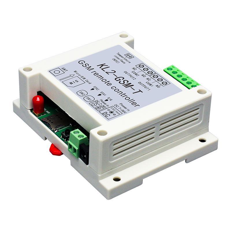 GSM 2 Way Relais contrôleur SMS d'appel Capteur de température à distance Smart Control domotique SIM commutateur porte de garage
