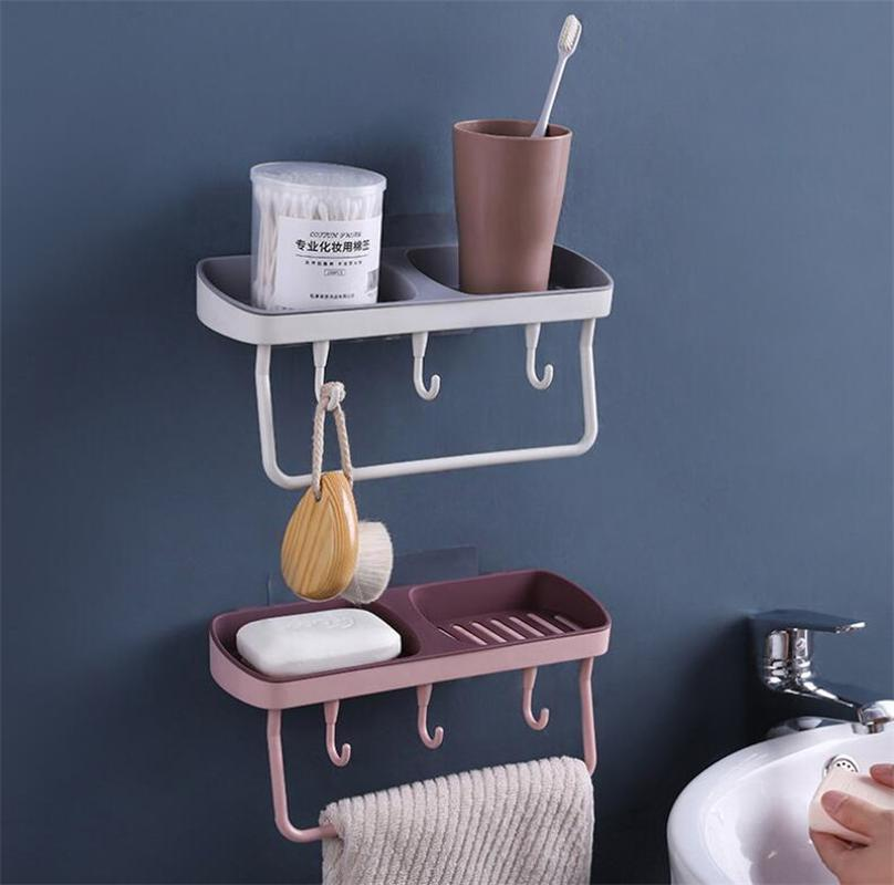 Drenante Holder Montato ventosa Container Accessori Piatto doccia Sapone Bathroom Wall Silog