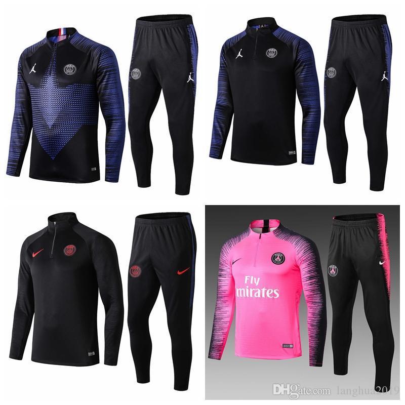 2019 2020 Maillots de foot 1920PSG Paris soccer tracksuits sets jacket MBAPPE futbal survetement football champions Suits Training suit