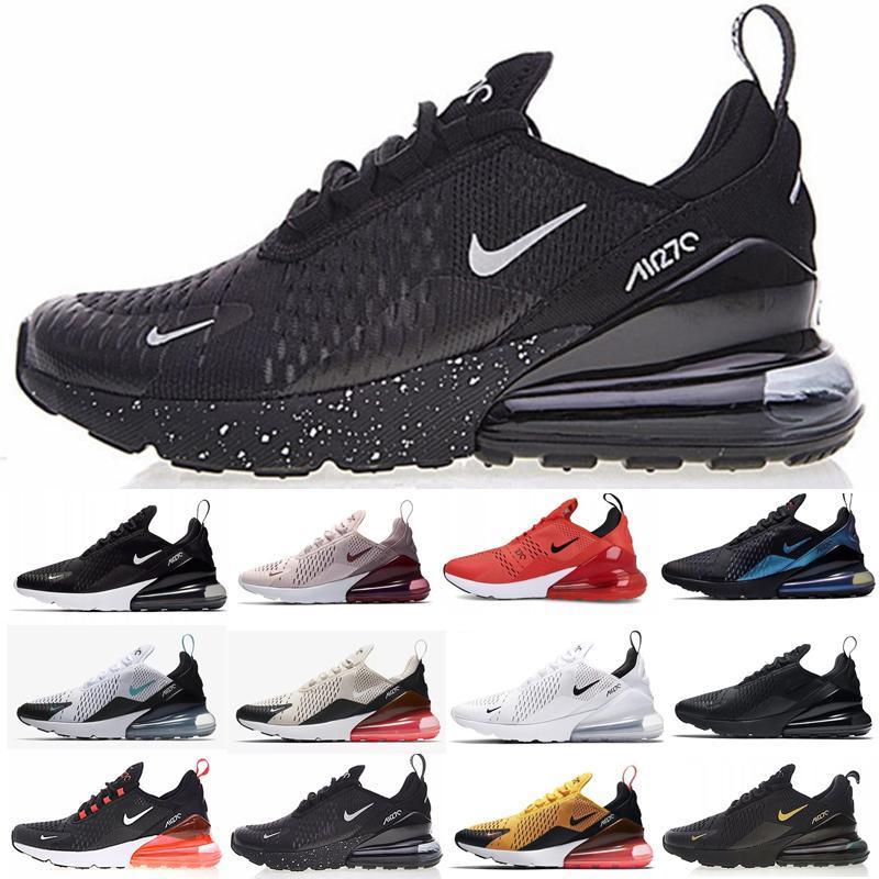 270 blanc triple chaussures de sport pour hommes Chaussures de course noir rouge South Beach 270 réagissent UNC Bauhaus Coral mode des femmes de formateurs de sport en plein air