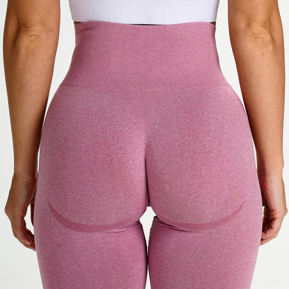 Hot-selling seamless knitted hip-lifting moisture-absorbing sports Fitness Tight tight sweat-wicking yoga pants sports fitness pants sexy hi