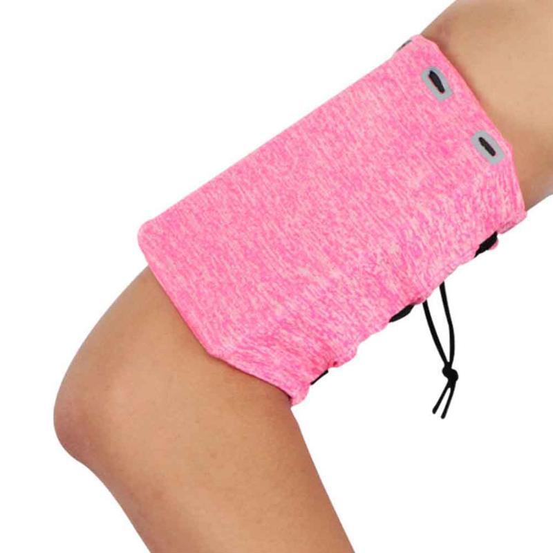 Teléfono móvil reflectante diseño de la cremallera de fitness de gran capacidad del bolso del brazo Universal Fit Doble bolsillo Correr Gimnasio Yoga brazal de los deportes