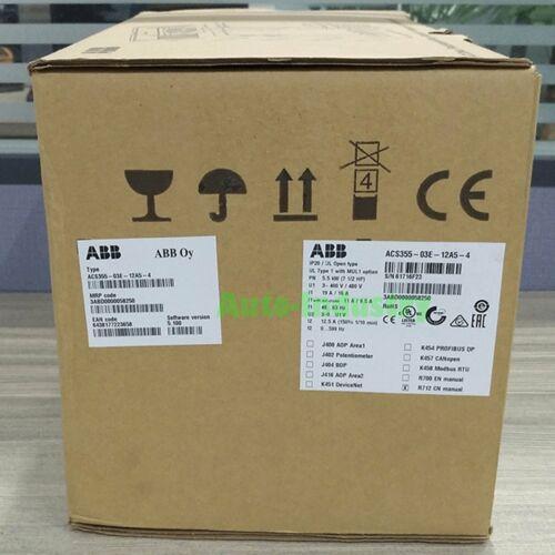 New In Box ABB Unidade ACS355-03E-12A5-4 5.5KW Um ano de garantia