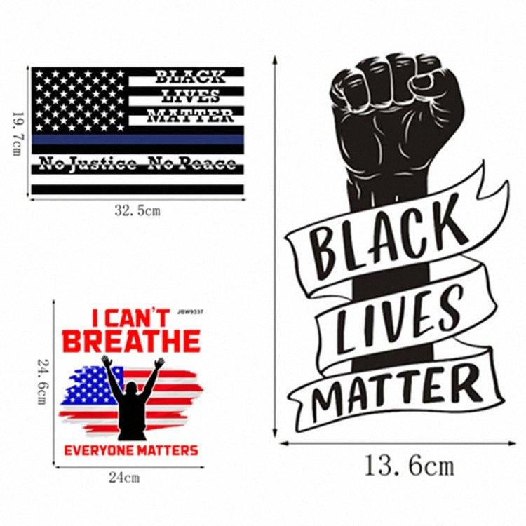 Puño creativa etiqueta auto-adhesivo de Negro Vidas Materia coche de la etiqueta engomada del PVC Todo el mundo Materia decorativo Pegatinas T2I51089 vXDE #