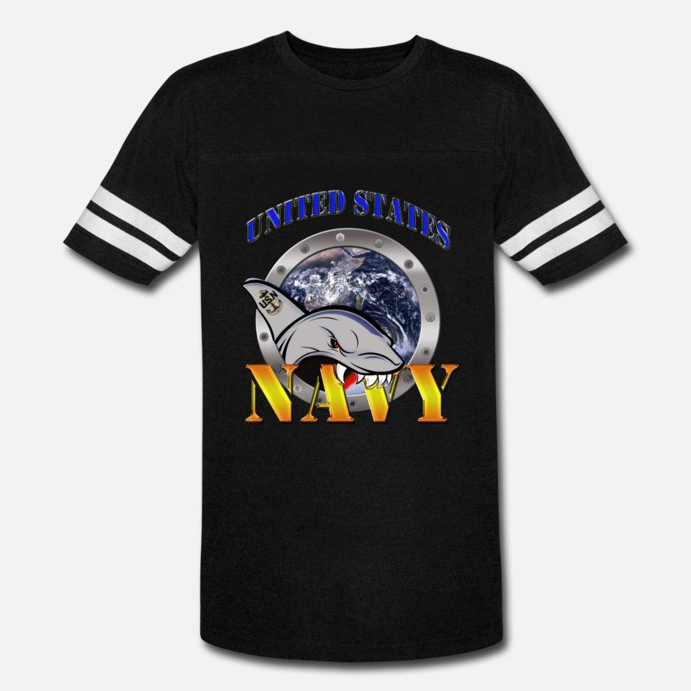 Us Navy tubarão camiseta homens Designs algodão plus size 3xl Outfit louco confortável camisa do vintage do outono da Primavera