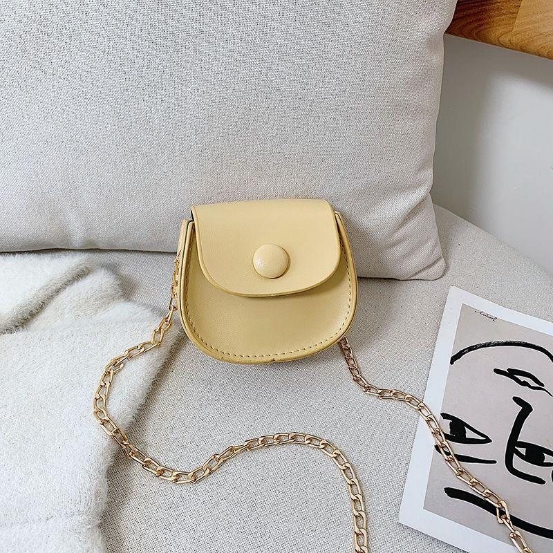 Sacs Filles Chaîne Femelle Bandoulière Mini Mode En Cuir Femme Femme Portefeuille Messenger Épaule Simple Pu FLAP Petits sacs à main SRHKW