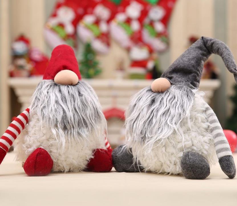 Gnome Plush-Natal do presente de aniversário Decoração de Natal Handmade sueco Tomte Papai Noel Scandinavian Plush Natal GA429 Present