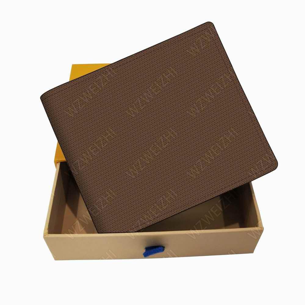 Italie Les Porte-cartes Portefeuilles en cuir pour homme Porte-monnaie pour homme court Porte-Monnaie Portefeuille Portefeuilles clé M62288